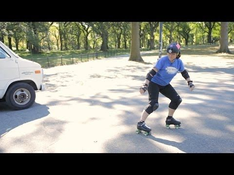 How to Do a Hockey Stop   Roller-Skate - YouTube