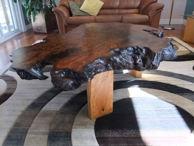 Oiled Redwood Burl With Cherry Legs