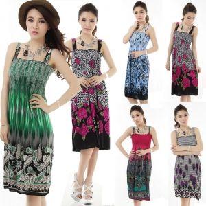 Women Sundress Maxi Beach Casual Evening Boho Summer Tank Dress