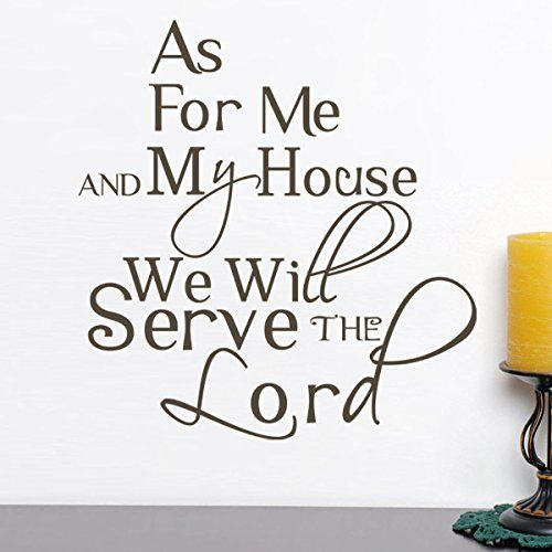 We will serve the lord vinyl bible wall decal christian wall quote religious wall sticker words wall letters home art decoration black by wallsup