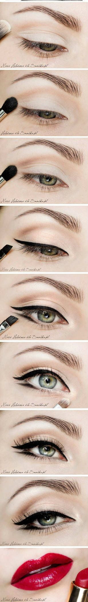 You, Mary, Violet, Ruth should know how to do wings on your eyes :) 1930's makeup look