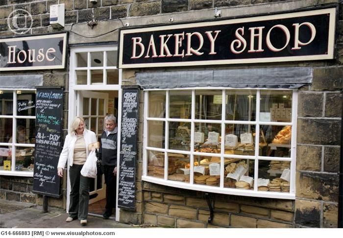 Lovely Village in West Yorkshire, England. MISS English bakeries :(