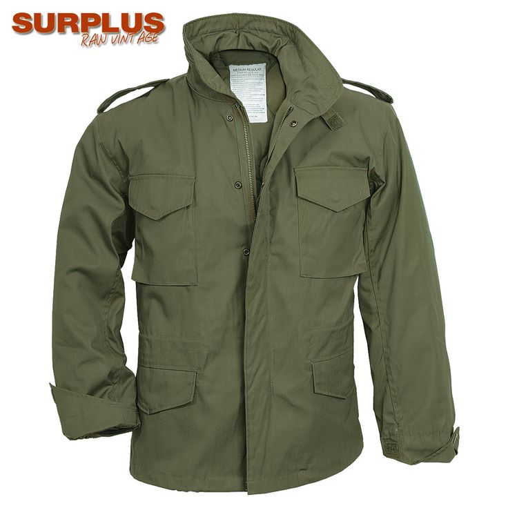 Surplus M65 Jacket comes with warm and removable liner, brass zipper and snap-up storm flap, waist and bottom drawstrings, and four large pockets. Ideal for all outdoor pursuits, no matter the weather. Only £44.99! Find out more at Military 1st online store. Free UK delivery and returns! Competitive overseas shipping rates.