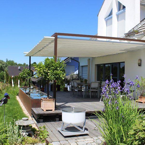 Sonnensegel Aus Freiburg Velusol Das Wettersegel Fur Terrassen Dachterrassen Gartenterrassen Pavillons Sonnensegel Terrasse Uberdachung Garten Terrasse
