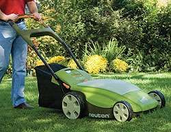 Neuton CE 6 Electric Lawn Mower Is Green on the Green trendhunter.com rechargeable lawn mower