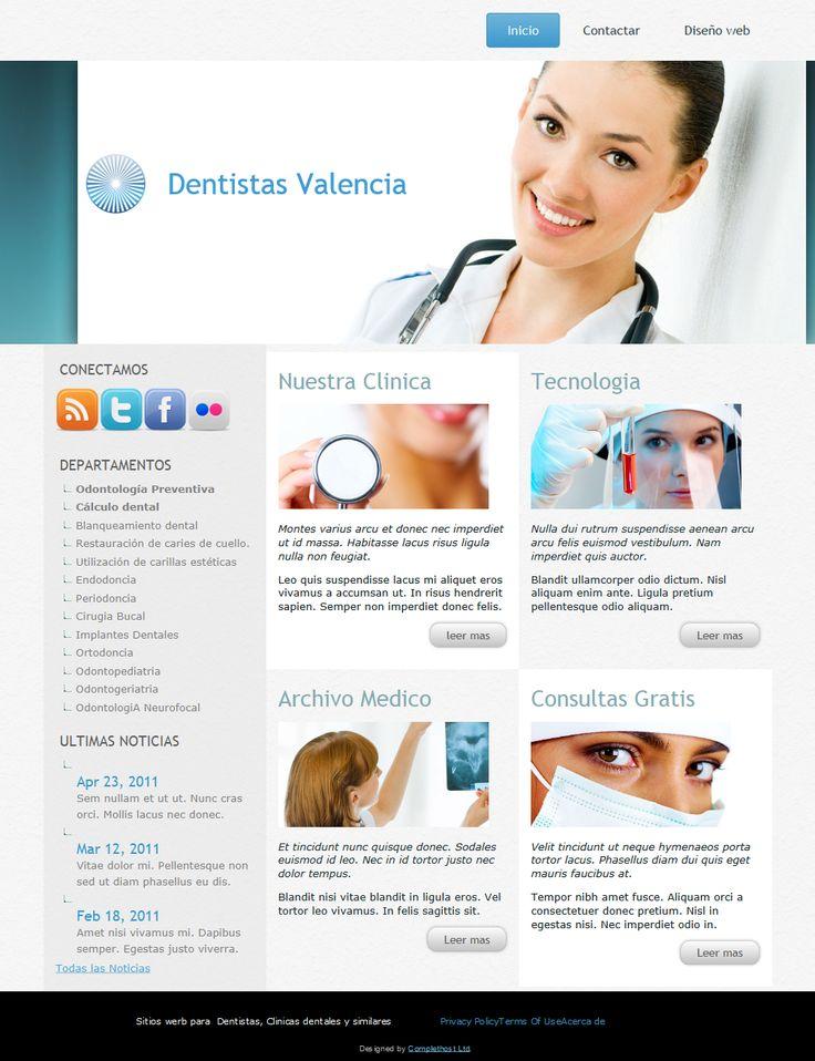 Dentistas valencia ejemplo sitio web ideal para clinicas - Clinicas dentales diseno ...