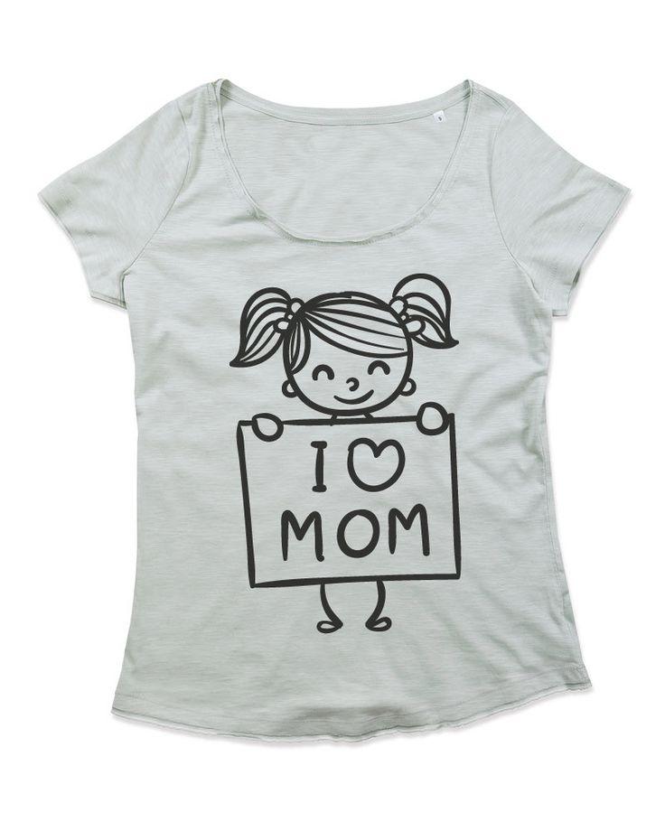 T-shirt Donna Girocollo in cotone Slub FESTA DELLA MAMMA 3 di TshirtByBrand su Etsy