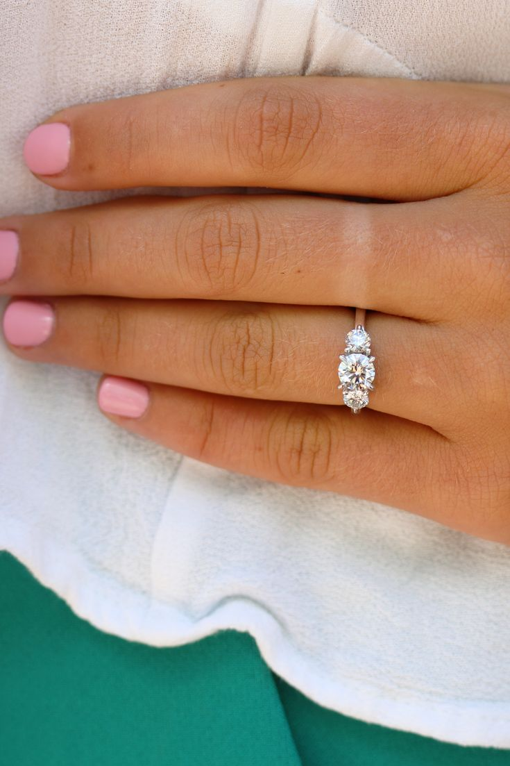 Three Stone Lab Diamond Engagement Ring. Yesterday, today and always. Showcase y…