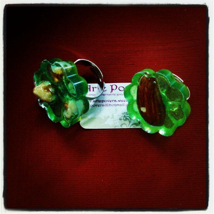 #rings #artepovera #handmade #almond #nature #summertime