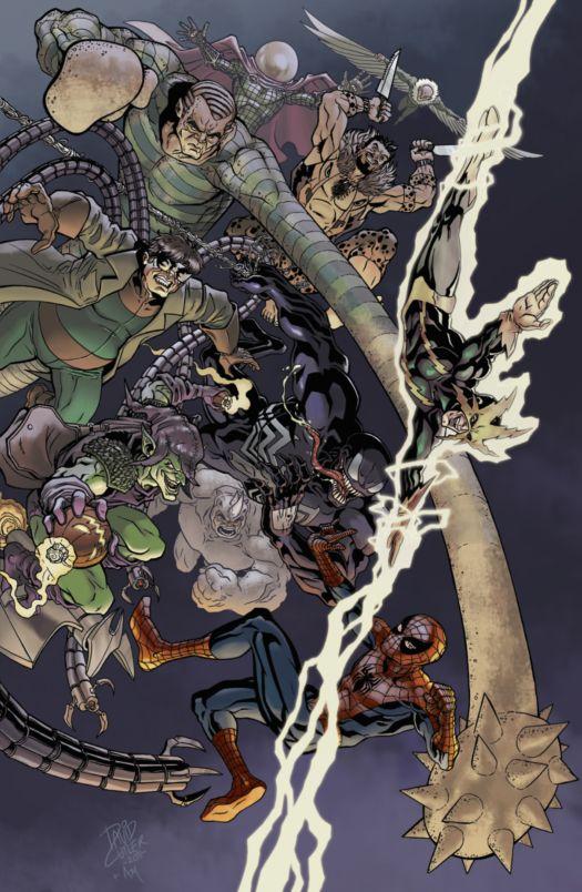 Spider-Man & the Sinister 9 by David J Cutler