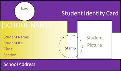 Beautiful Student ID Card templates Desin and sample word file- School Resources ~ Student Teacher Centre