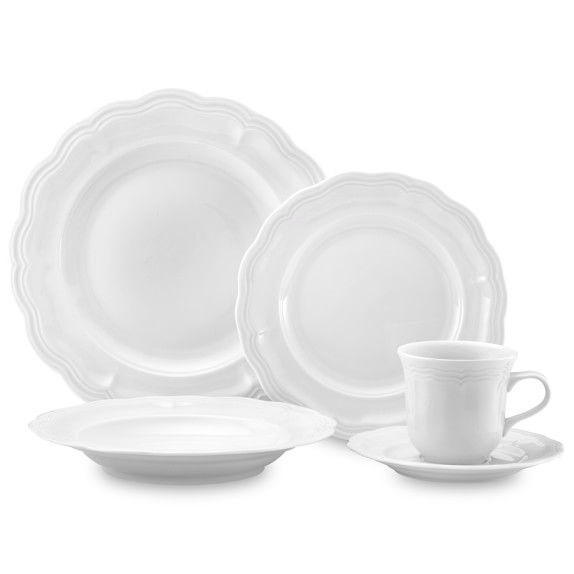 Pillivuyt Queen Anne Porcelain Dinnerware Place Settings   Williams-Sonoma