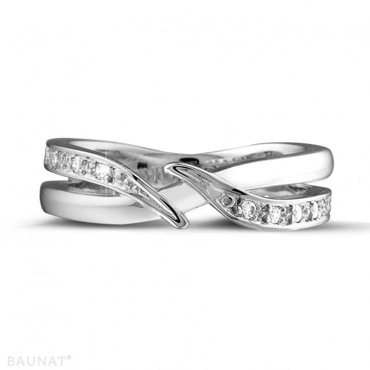 Witgouden diamanten alliance - 0.11 caraat diamanten... - BAUNAT