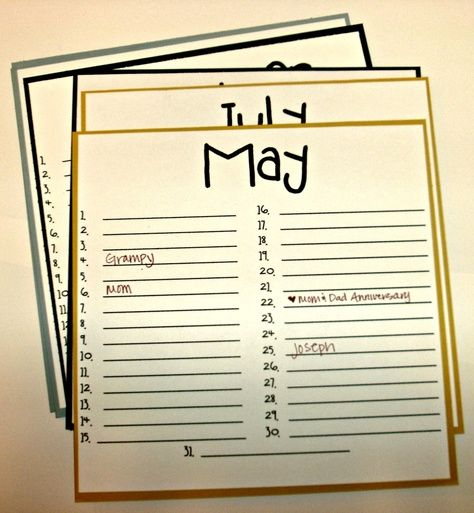 The 25+ best Birthday calendar ideas on Pinterest DIY birthday - sample birthday calendar