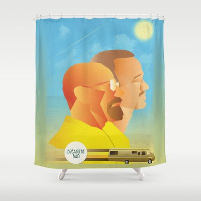 Shower with Walter White and Jesse Pinkman with this Breaking Bad Shower Curtain
