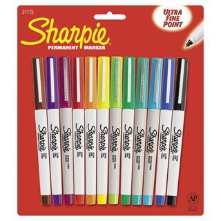 Sanford®+Sharpie+Markers+-+12+Piece+Set+-+Ultra+Fine+Tip