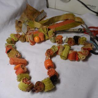 collana in tessuto riciclato