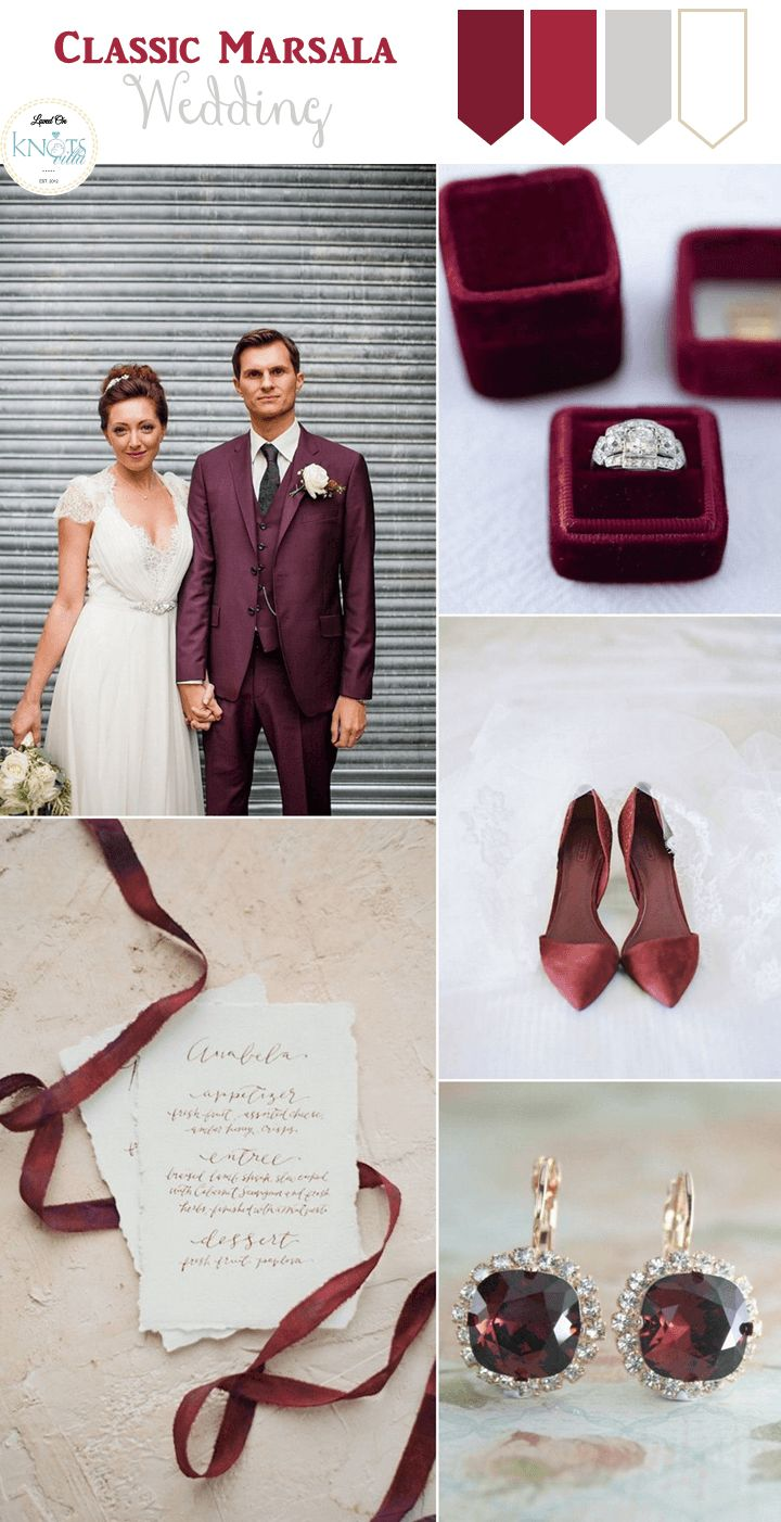 4 Marsala Wedding Inspiration Boards