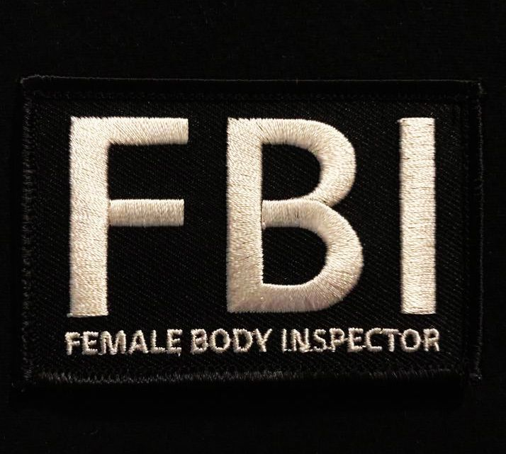 FBI FEMALE BODY INSPECTOR TACTICAL USA ARMY MORALE US MILITARY SWAT HOOK PATCH | Collectibles, Militaria, Current Militaria (2001-Now) | eBay!