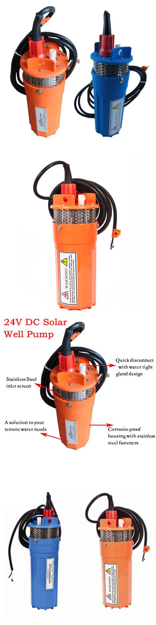 Solar Water Pumps 115710: 2 Colors 24V Stainless Strainer Submersible Deep Dc Solar Well Pump Water Pump -> BUY IT NOW ONLY: $125 on eBay!