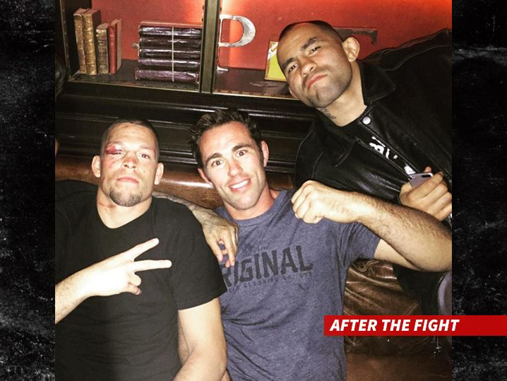 Nate Diaz -- Worse for Wear But Still, the Champ (PHOTO)