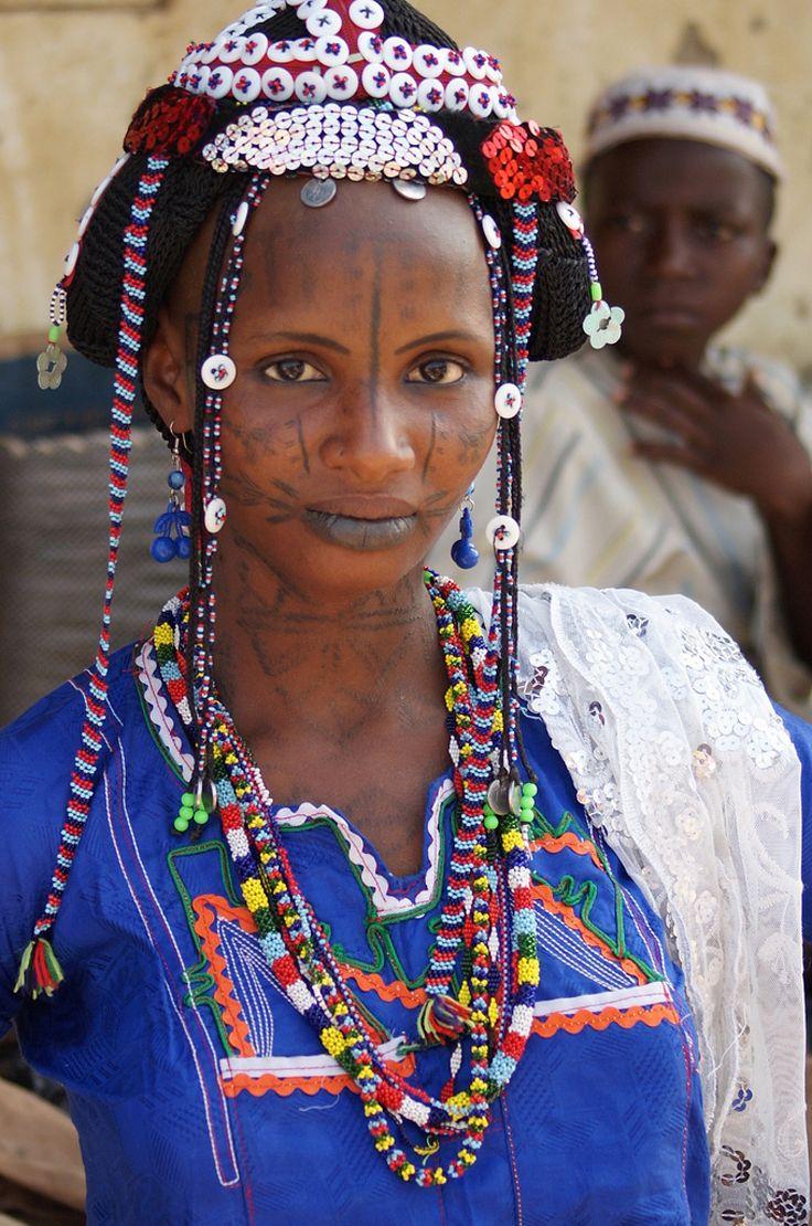 Africa | Fulani at the market in Serti.  Gashaka, Taraba, Nigeria | ©Rosemary Lodge