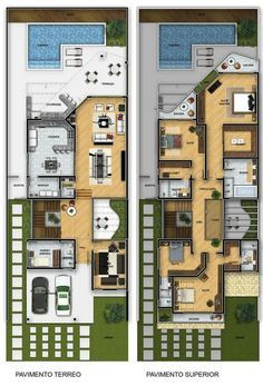 Plantas De Sobrados Com 4 Quartos Grátis. Floor PlansHouse Plans DesignModern  ...