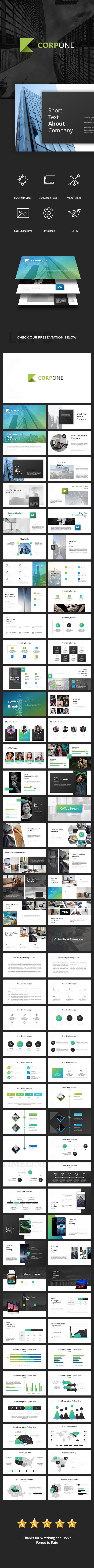 CorpOne Google Slides | Presentation templates, Template and Keynote