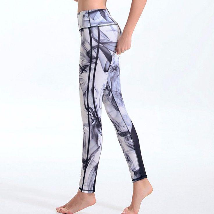 Yoga quần thể thao in ấn xà cạp fitness chạy vớ phụ nữ thở nhanh khô sportwear mallas deportiva mujer phòng tập thể dục ropa