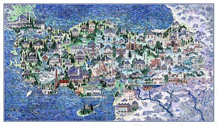 Nusret Colpan - map of Turkey