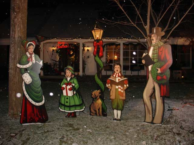 christmas carolers yard decorations - Rainforest Islands Ferry - christmas carolers decorations