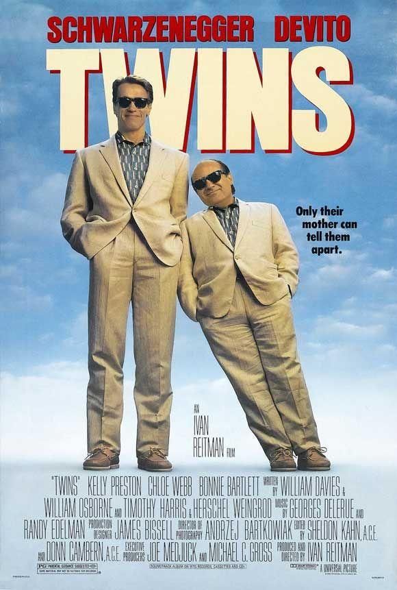 Twins ~ Arnold Schwarzenegger, Danny DeVito, Kelly Preston.