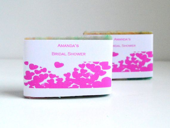30 Customized Bridal Shower Soaps . 2 oz Soap by NaturalBeautyLine