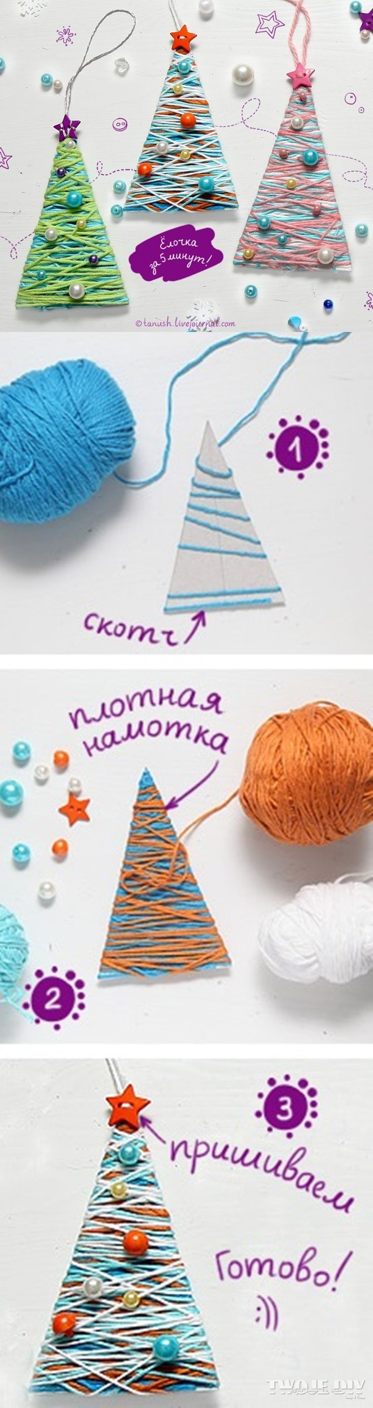 Fun cheap and easy Christmas ornaments the kids can make