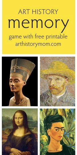 Art History Memory Game with Free Printable