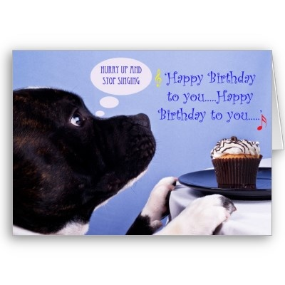 Staffordshire bull terrier birthday card from http://www ...