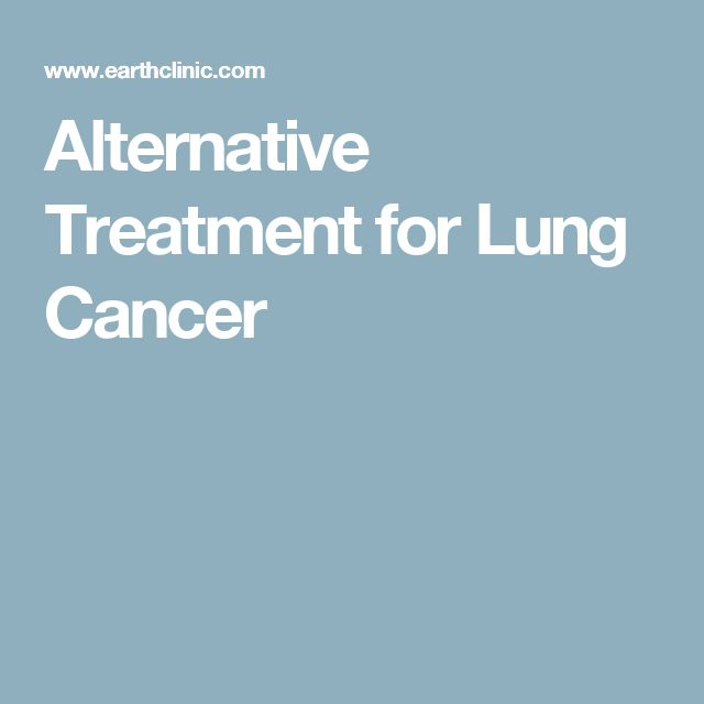 Alternative Treatment for Lung Cancer