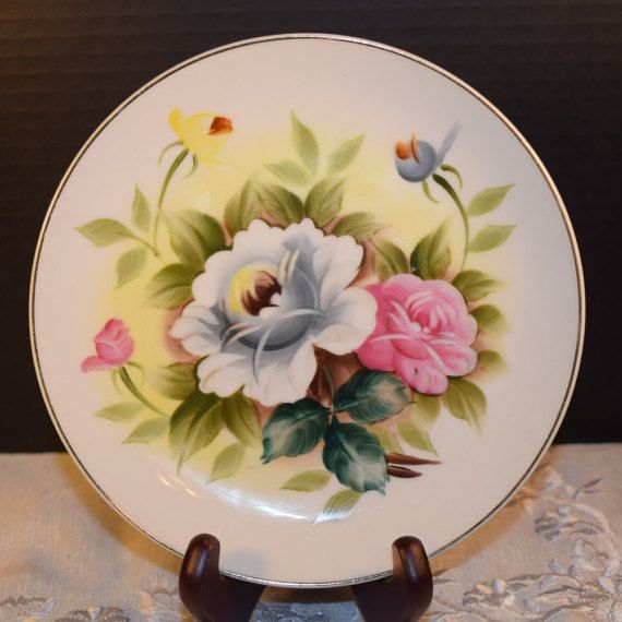 Shafford Kashmir Rose Salad Plate Vintage by ShellysSelectSalvage