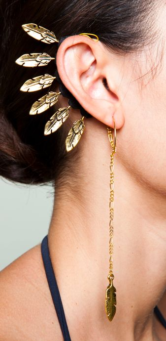 Gold Hawk ear piece