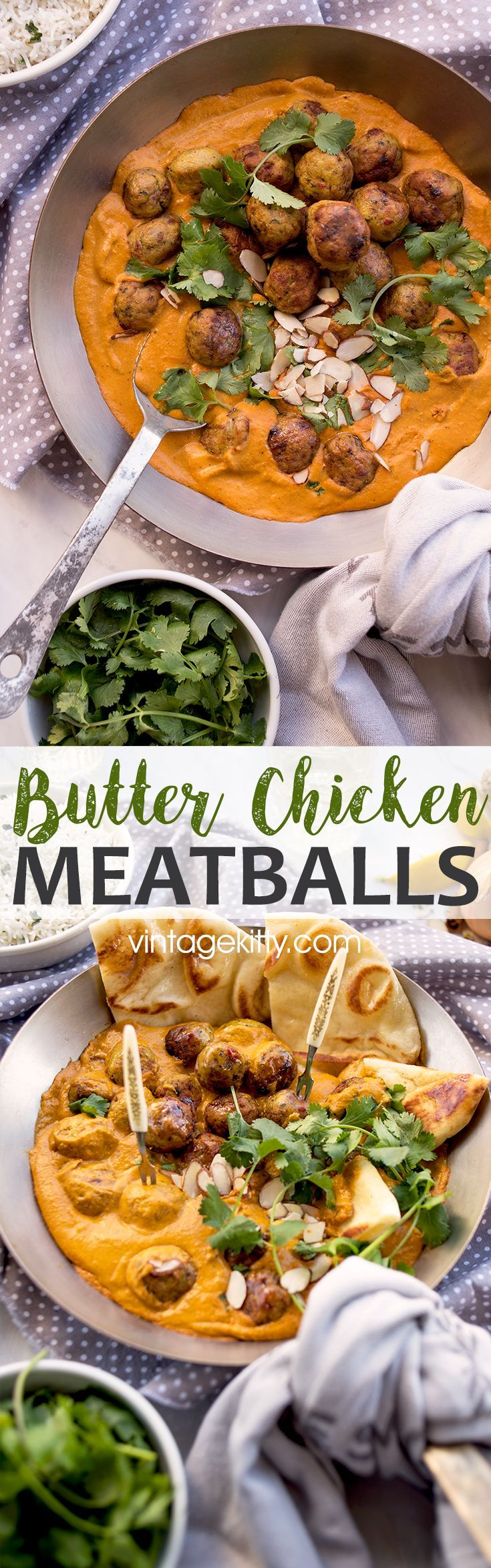 This recipe remake is a fun and delicious dish for sharing! Our Butter Chicken Meatballs are a great party appetizer or main course. It's creamy sauce will have you mopping up every last drop with buttery naan!