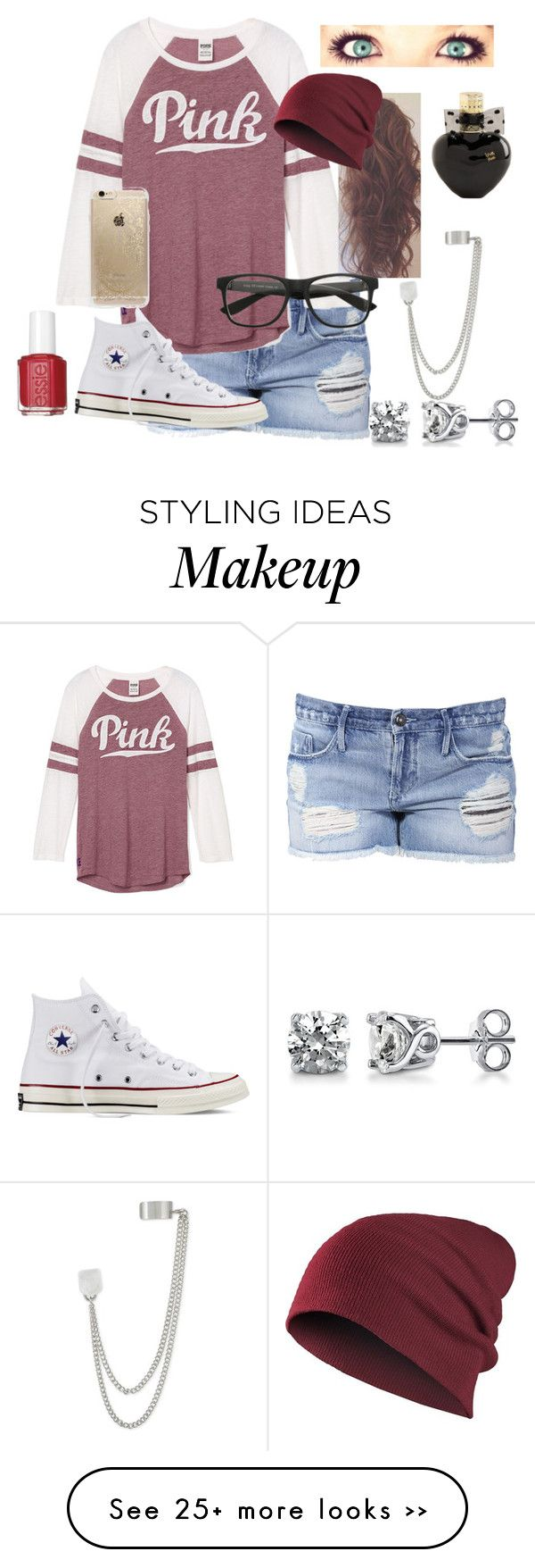 """Cool Autumn Nights"" by dancesoftball on Polyvore featuring Black Orchid, Converse, Rifle Paper Co, French Connection, BERRICLE, Aéropostale and Essie"
