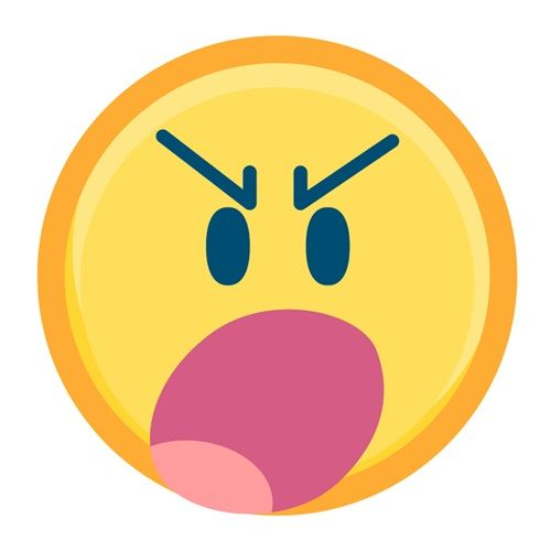"""""""Angry Face Emoji With Gritted Teeth"""" canvas print from our Emoji Art Prints Collection via CanvasOnDemand.com. Express yourself and your wall art!"""