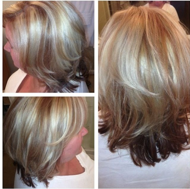 Blonde Highlights And Lowlights Short Hair Cut With Round