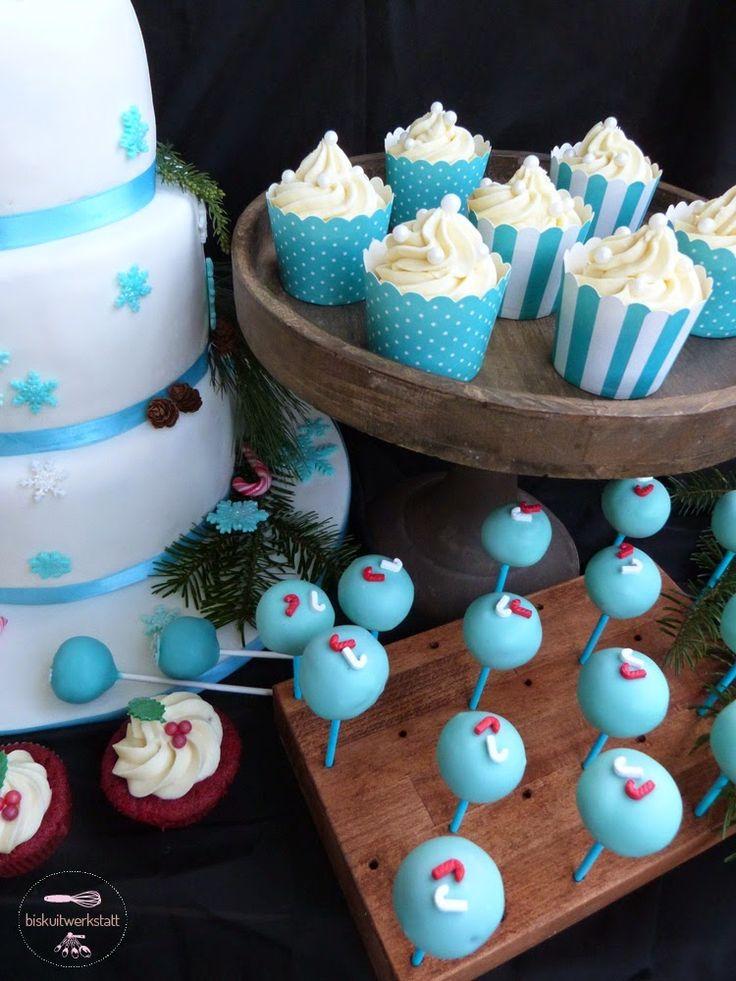Ein Sweet Table zur Nikolaus-Winter-Hochzeit, winter wedding  http://biskuitwerkstatt.blogspot.com