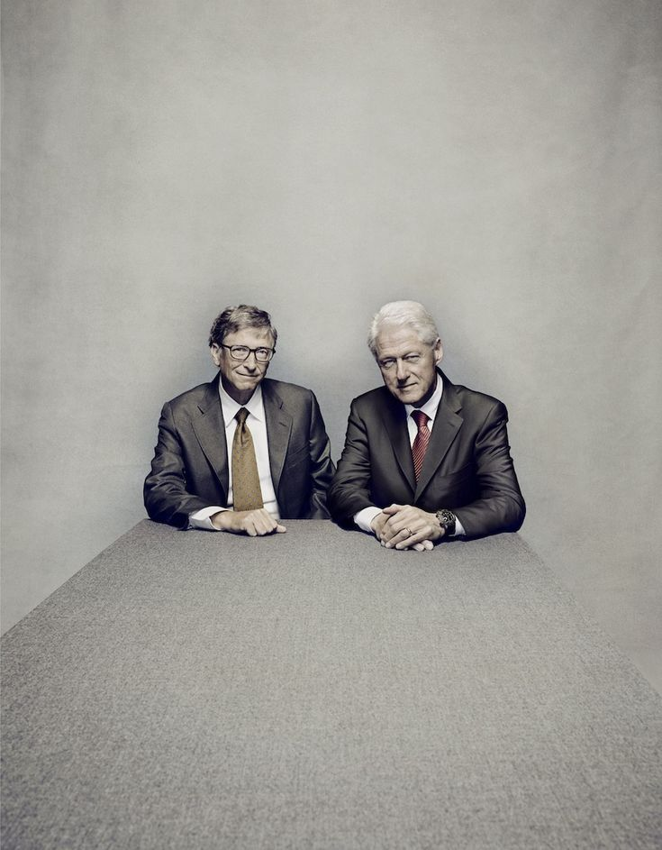 Nadav Kander_Bill Clinton_Bill Gates