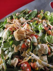 The Apron Gal: Southwestern Salad with Cilantro & Jalapeno Ranch Dressing