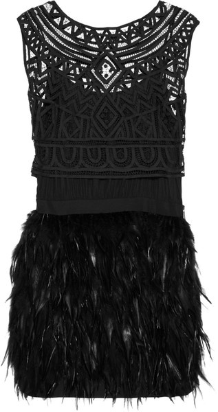 SASS & BIDE LONDON   Winding Road Silk-blend and Feather Dress
