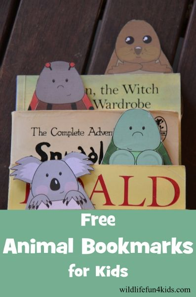 Free printable Animal Bookmarks for Kids – cuuuute!!