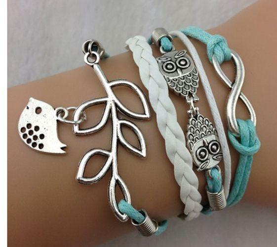 Peace Bird, Owl, Infinity Bracelet~ (921). Starting at $5 on Tophatter.com!