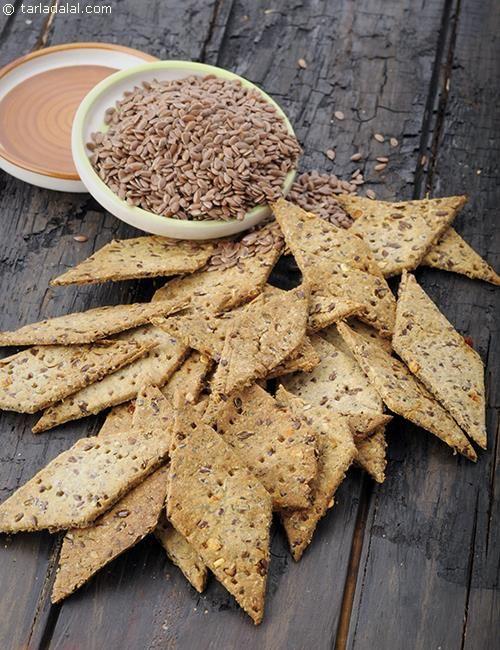 Flax Seed Shakarpara, Diabetic Friendly recipe | by Tarla Dalal | Tarladalal.com | #41168